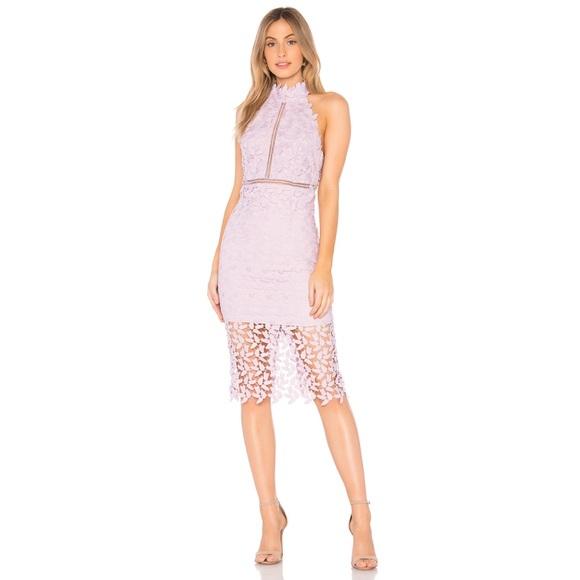 121863c5 Bardot Dresses & Skirts - Bardot Gemma Halter Lace Sheath Dress in Orchid 6
